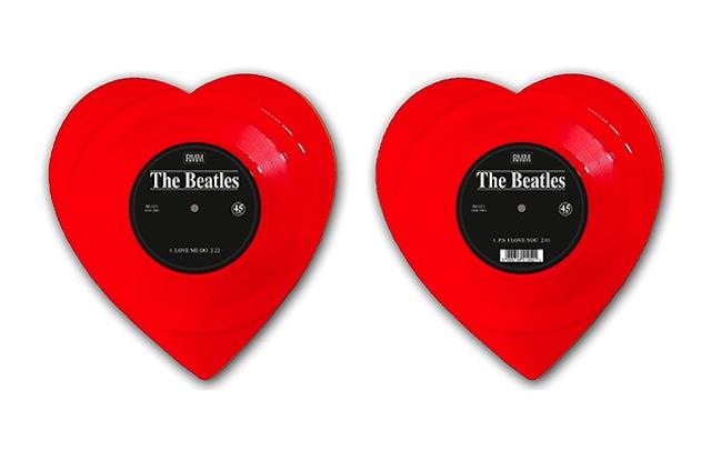 "The Beatles' ""Love Me Do"" appears on heart-shaped vinyl"