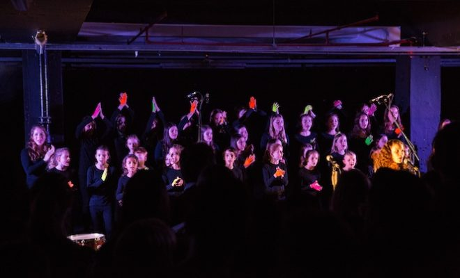 see-photos-from-the-launch-of-dinos-chapman-capital-childrens-choirs-untrust-ep-at-brewer-street-car-park