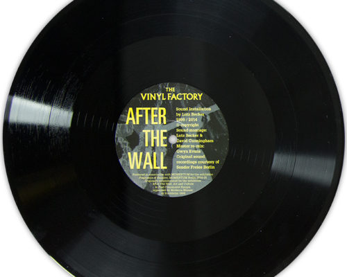 German artist's evocative soundscapes capturing the fall of the Berlin Wall pressed to vinyl