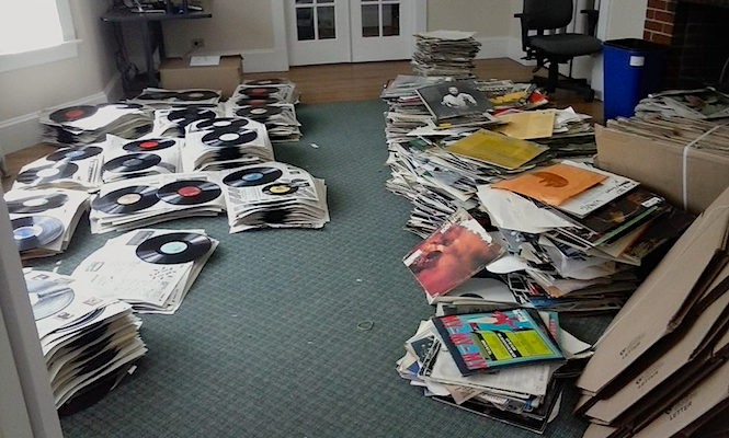 """About 3,000 records were soaked"": What happens when your record collection goes under in a flood"