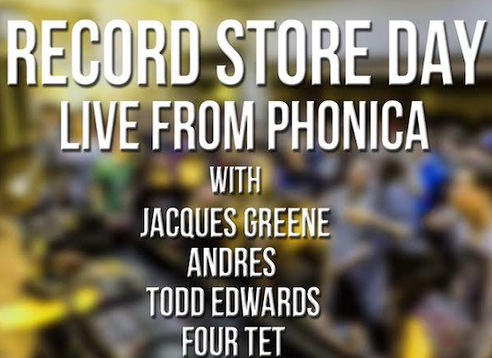 Watch Four Tet, Andrés, Todd Edwards and Jacques Greene live from Phonica Records