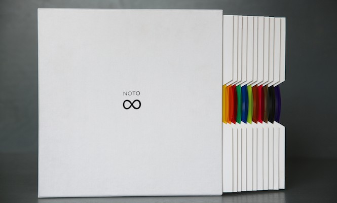 carsten-nicolai-announces-bausatz-noto-vinyl-box-set-containing-twelve-10-multi-coloured-records-featuring-over-200-unique-grooves