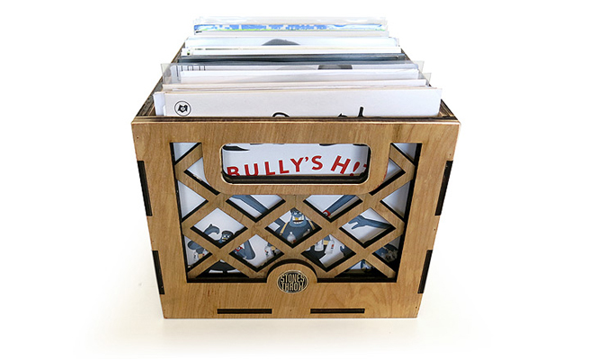 Stones Throw ready customised 7″ record crate