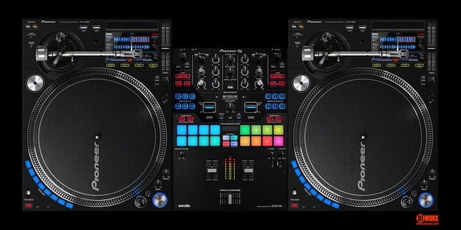 If your turntables were fused with CDJs, they might look a bit like this