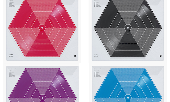 Check out these hexagonal coloured records &#8211; <em> Super Hexagon </em> soundtrack pressed to vinyl