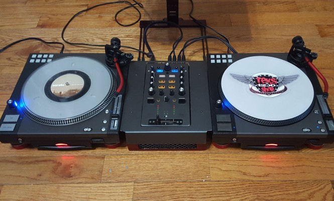 Check out these custom-built 10″ Technics turntables