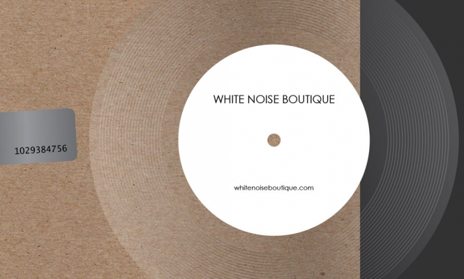 This pop-up sells white noise on clear 7″ vinyl