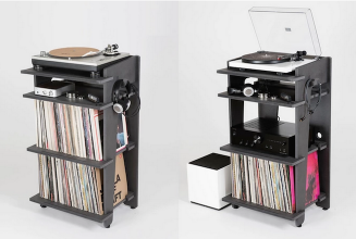 Check out this new all-in-one vinyl and turntable setup