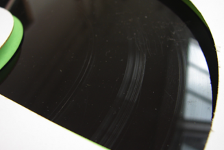 This artist cut vinyl with knives and sandpaper for one-of-a-kind release