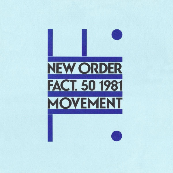 Peter Saville cover for New Order debut album Movement