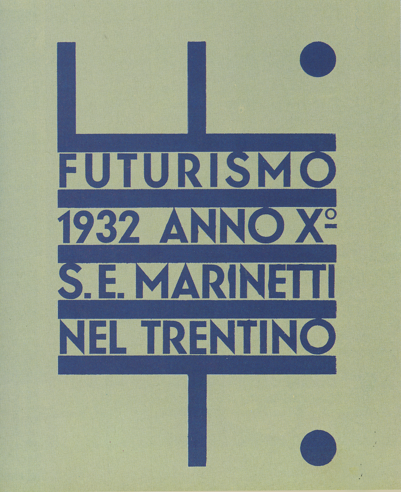 Fortunato Depero's poster for the 1932 exposition Futurismo Trentino