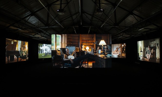 The Vinyl Factory premieres Ragnar Kjartansson's acclaimed multi-screen A/V installation 'The Visitors' at Brewer Street Car Park