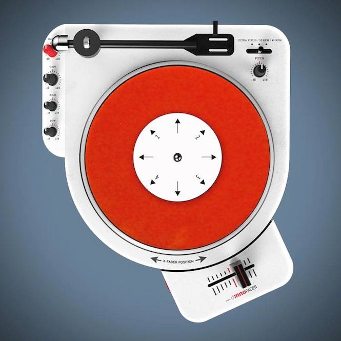 Check Out This Portable 7 Quot Scratching Turntable The