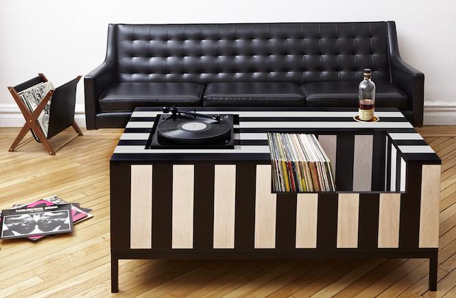 Vinyl Decoration Table : The ultimate coffee table for vinyl aficionados