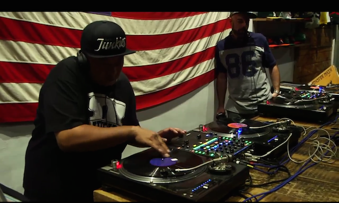 Watch DJ Babu and DJ Nu-Mark spin a mystery crate of each other's records