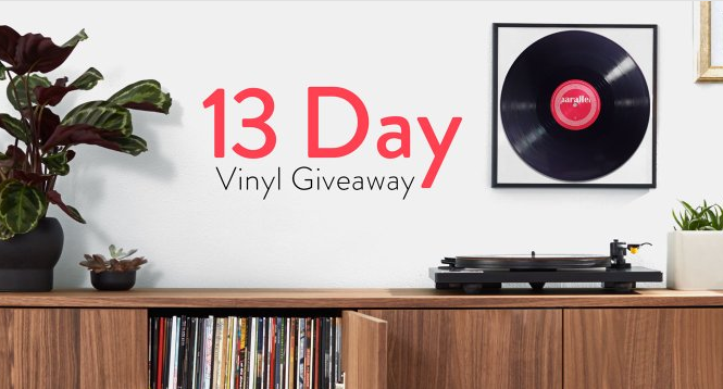 Amazon is giving away free vinyl every day for the next two weeks
