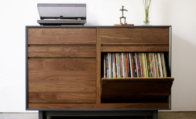 Ikea Birch Credenza : Bored of ikea alternative ways to store your records the