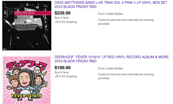Record Store Day Black Friday flipping has already begun on eBay