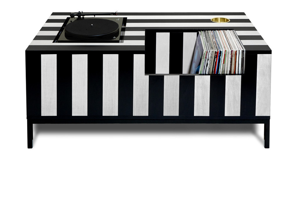 turntable furniture cabinet aside from the gorgeous and unique slanted design bureau goes full executive with 1985 bang olufsen turntable integrated into top 10 incredible record player consoles to reimagine your living space