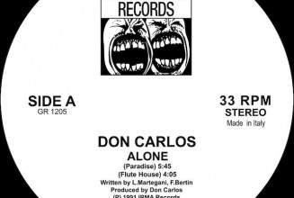 Don Carlos' house anthem 'Alone' gets reissue