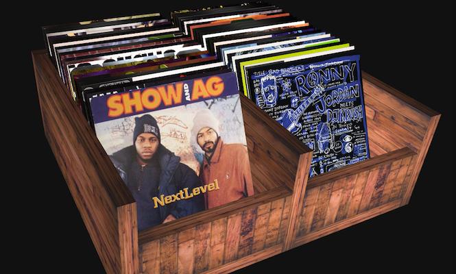 Dig through virtual crates of classic hip-hop vinyl