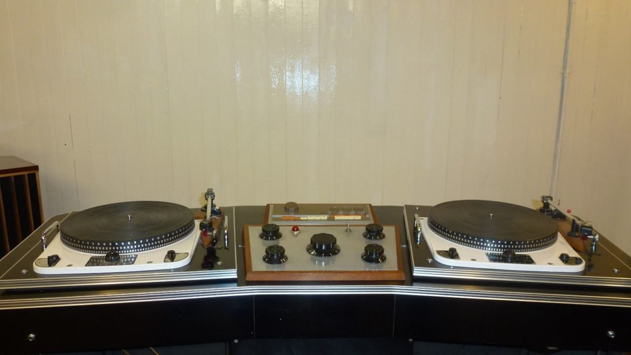 1960s Record Player Console And Rotary Mixer Goes On