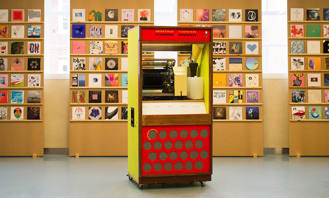 This hybrid vinyl and wireless jukebox is up for sale