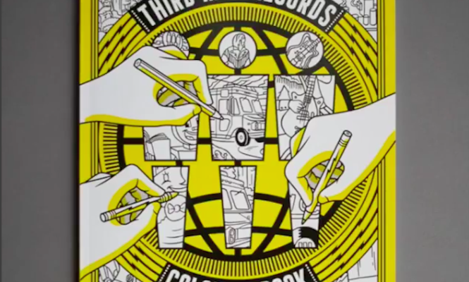 Jack White Third Man Records Colouring Book