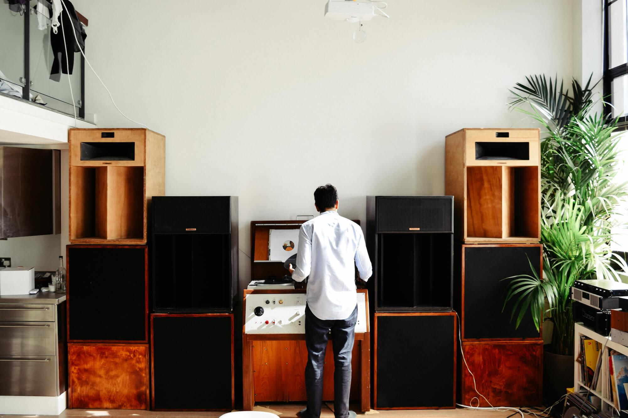 Brilliant Corners' custom sound system & BBC Technics turntable console