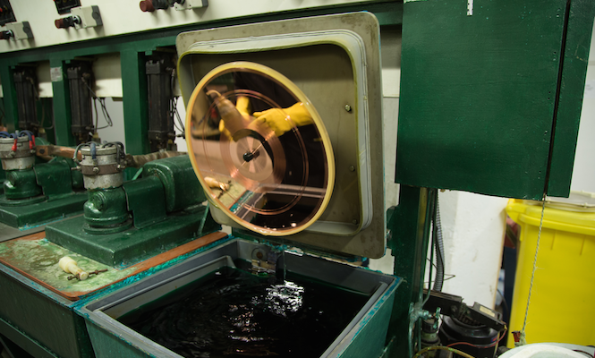 A new record pressing plant has opened on an island in Canada