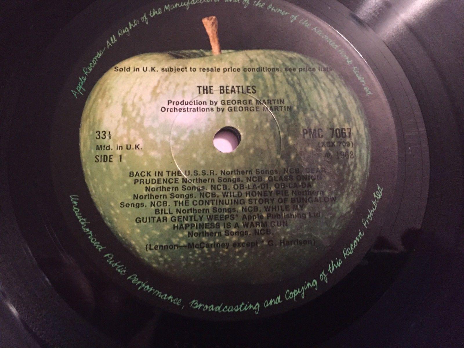 Super Rare Mono Pressing Of The Beatles White Album Up