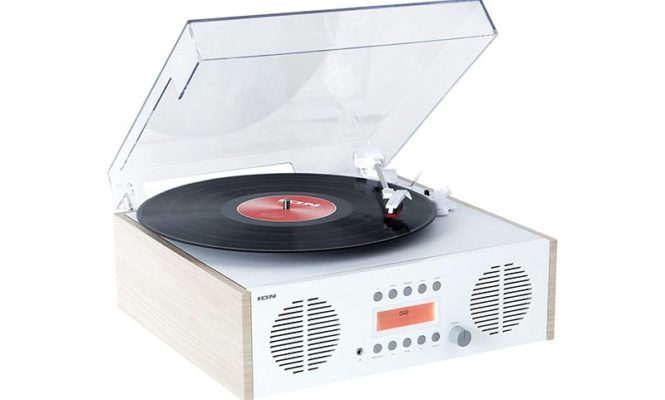 """New """"retro music centre"""" features a turntable modelled on Braun's 1950s SK-4"""