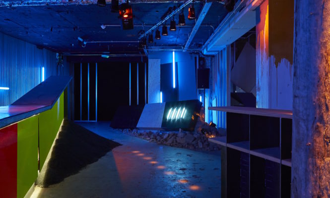 Virgil Abloh and Ben Kelly re-create fragments of a mythical nightclub for new installation