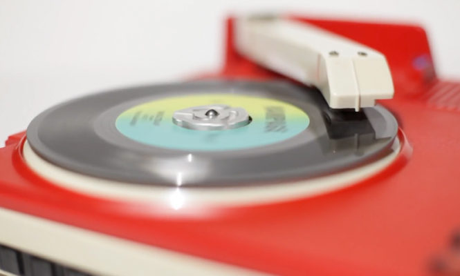 This collector turns toy Fischer-Price turntables into portable DJ decks