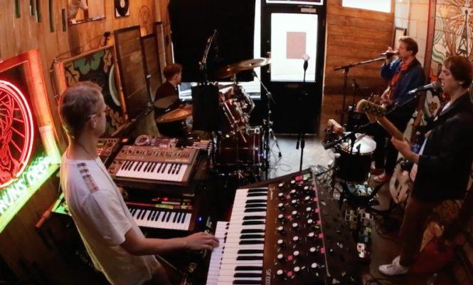 Watch Django Django cut a vinyl record live in session