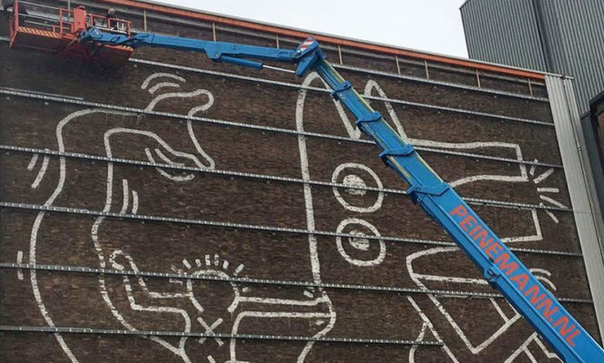 12-metre Keith Haring artwork uncovered in Amsterdam