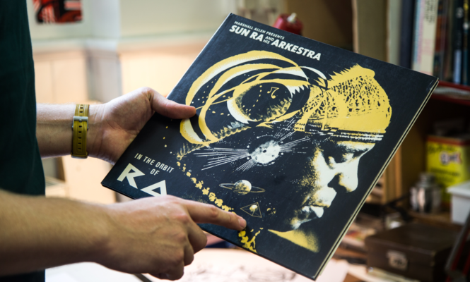 Channeling the cosmic imperfections of Sun Ra's record sleeves