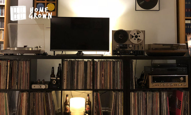 Home Grown: The collector with a DIY tube pre-amp he built with a friend