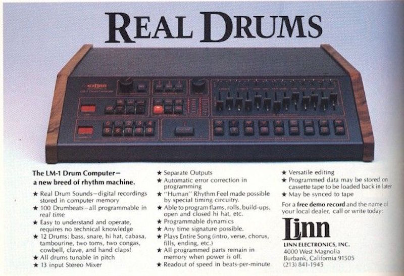 An introduction to the Linn LM-1 and 10 records it helped define